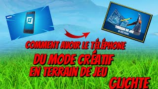[Fortnite glitch] - How to get the creative mode phone in the playground!!