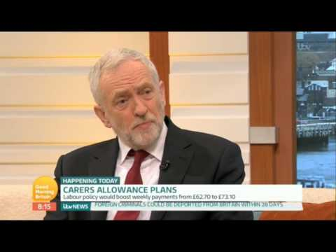 Jeremy Corbyn | ITV's Good Morning Britain | Increasing the Carer's Allowance