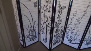 8 Panel Bamboo Floral Room Divider Review
