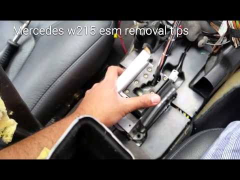 Mercedes Stuck In Park Shifter Removal Tips W215 W220