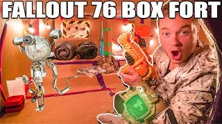 FALLOUT 76 BOX FORT VAULT PART 1 📦 24 Hour Challenge
