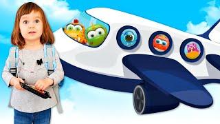 Бьянка и Карл летят в Москву и смотрят мультики про машинки - Привет, Бьянка