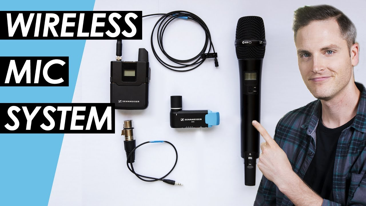 wireless microphone system setup sennheiser avx wireless mic review youtube. Black Bedroom Furniture Sets. Home Design Ideas