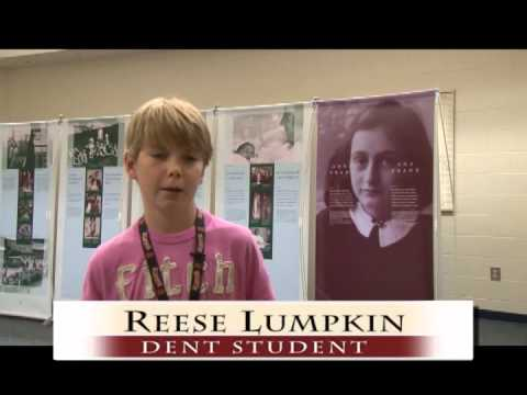 Anne Frank Exhibit at Dent Middle School