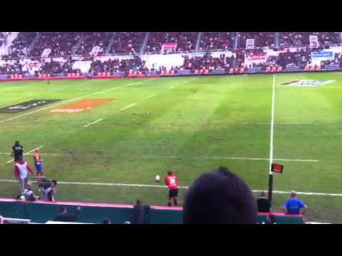 Toulon rugby. Jonny wilkinson conversion.