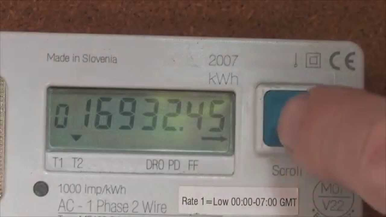 Reading a UK Dual rate electricity meter - YouTube