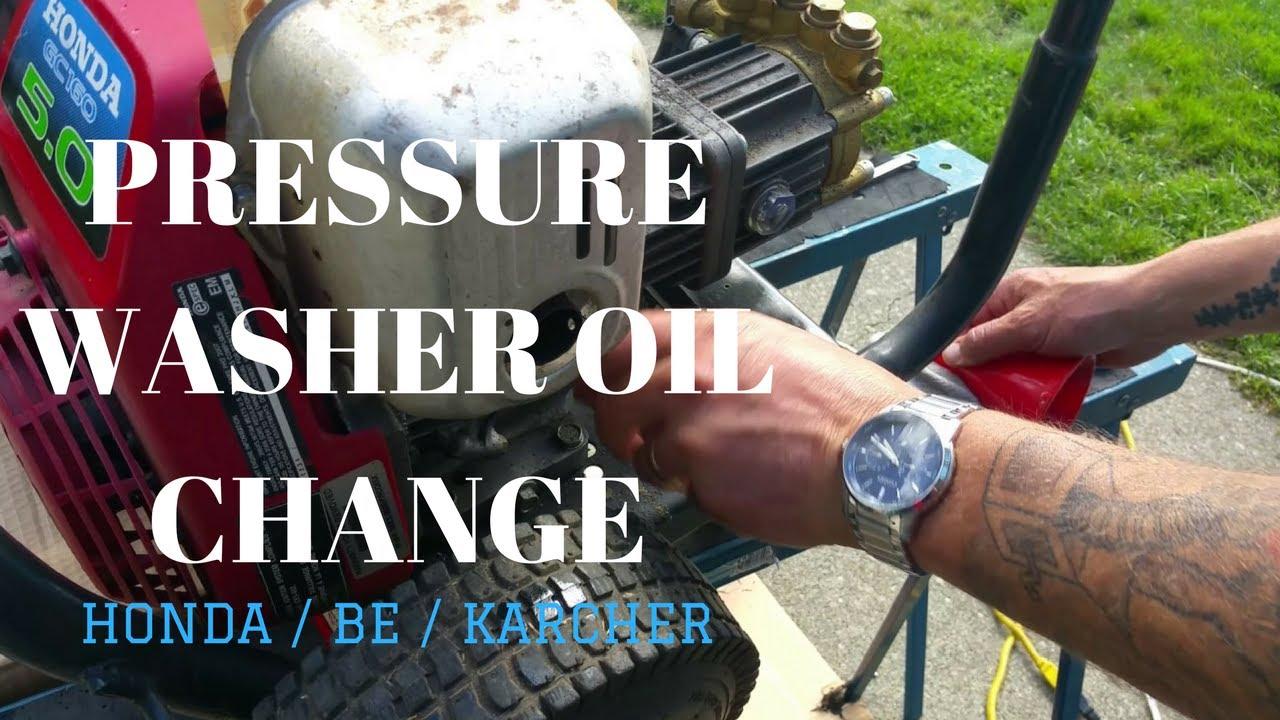 Pressure Washer Oil Change Be Karcher Honda Guest Starring Fury Youtube