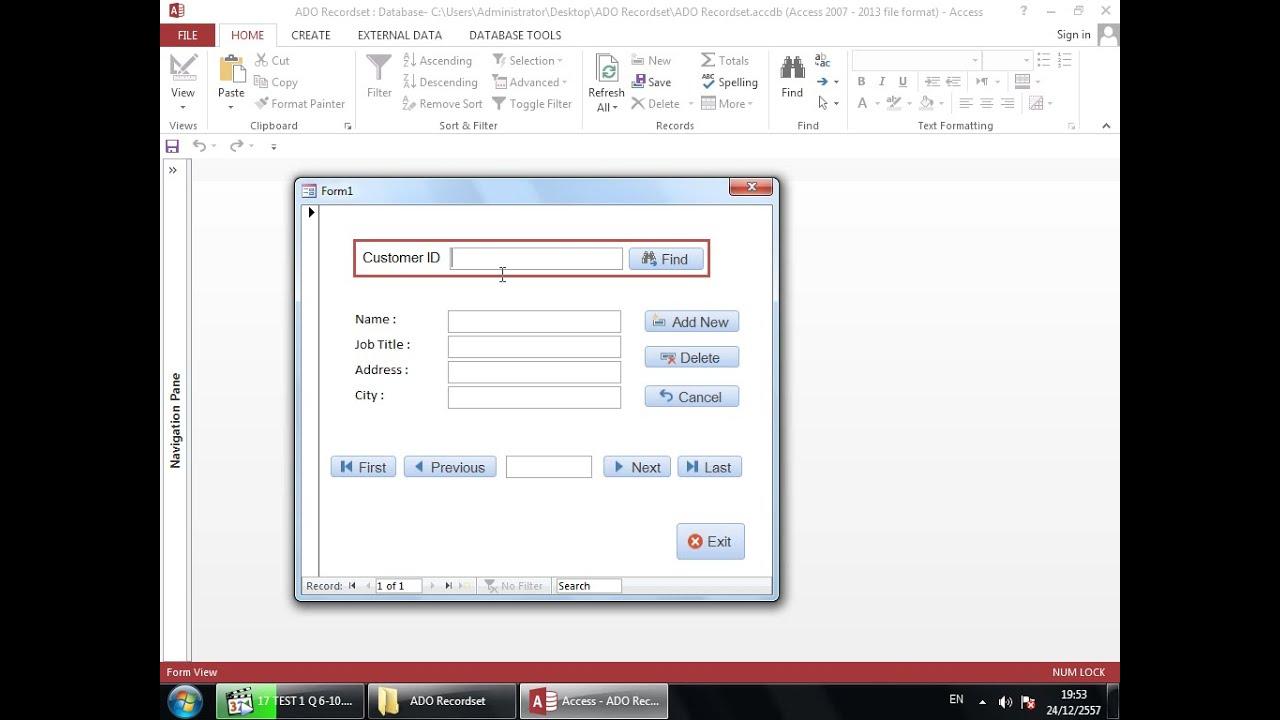 Access VBA Programming - ADO Recordset for Beginners Part 1/4
