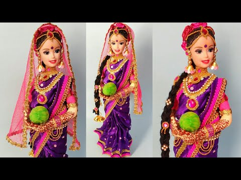 Gorgeous Newspaper Doll | South India Bridal Making From Newspaper | Creative Craft | Punekar Sneha