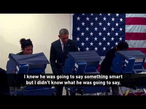 Barack Obama Jokes With Voters