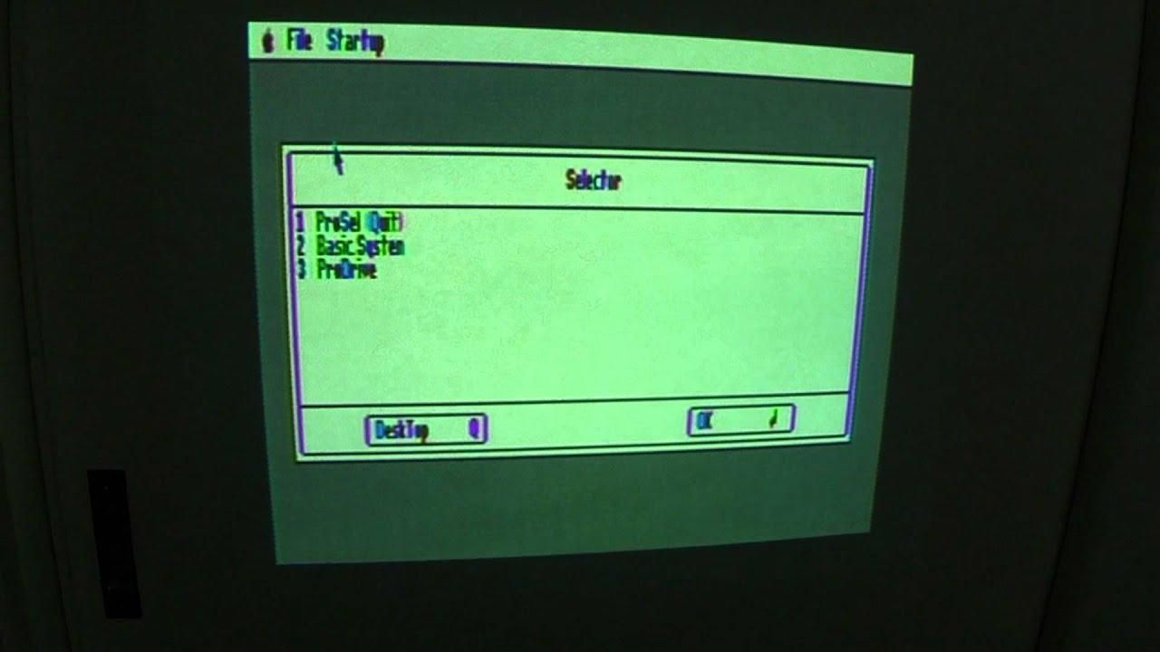 apple ii desktop running on apple iic plus - youtube