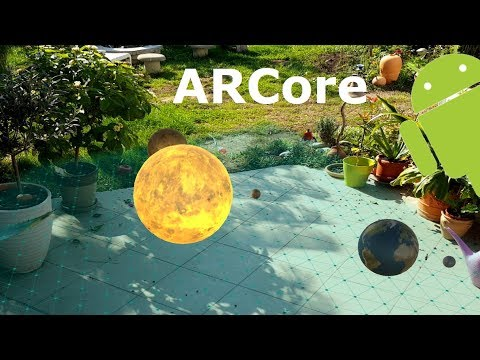 ARCore Apps: Solar System - Galaxy S8