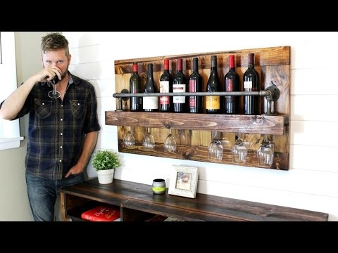 The Industrial Wine Rack Easy Diy Project Youtube