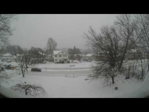 Time-lapse video of Winter Storm Stella as it hits Worcester on March 14, 2017