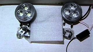 Стробоскопы  LED DB-2001 9W с пультом Д/У. Белый.(Стробоскопы LED DB-2001 9W с пультом Д/У. Белый. При подключении двух проводов питания к