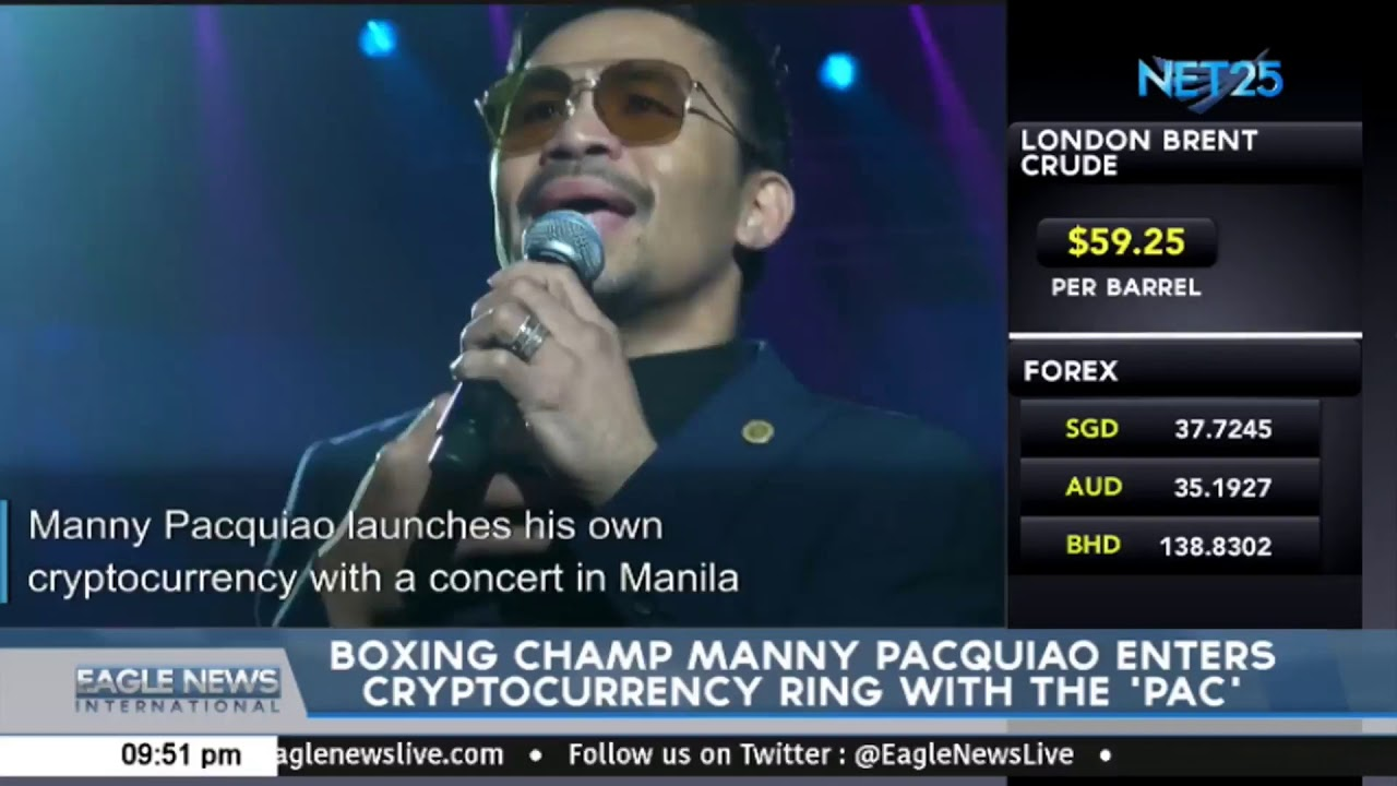 Boxing champ Manny Pacquiao enters cryptocurrency ring with the 'Pac'