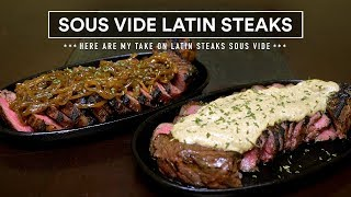 The LATIN STEAK Sous Vide - AKA Bistec Encebollado - Keto Cauliflower Rice