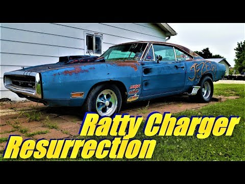 Jezebel 1970 Ratty Charger Resurrection 500ci Stroker, 6 Pack, And 4 Speed BUILD Pt 1