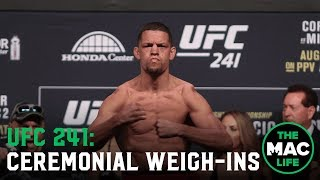 UFC 241 Ceremonial Weigh-Ins: Main Card