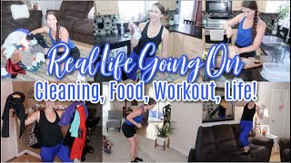 Around The House Happenings! Clean With Me, Snacks, Workout, & Hangout! Let's Be Friends!