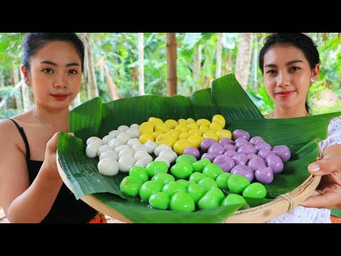 Yummy cooking dessert sticky rice ball recipe - Natural life TV
