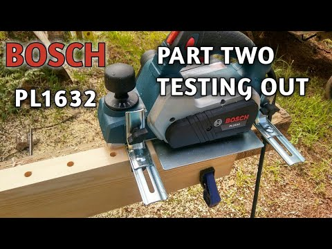Bosch planer pl1632 part two assembly and testing