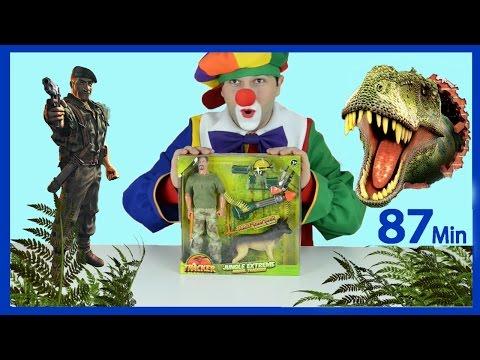 Funny videos for kids. Clown Bingo, Dinosaur Hunt, Transformers vs Dino, TMNT, Construction vehicles