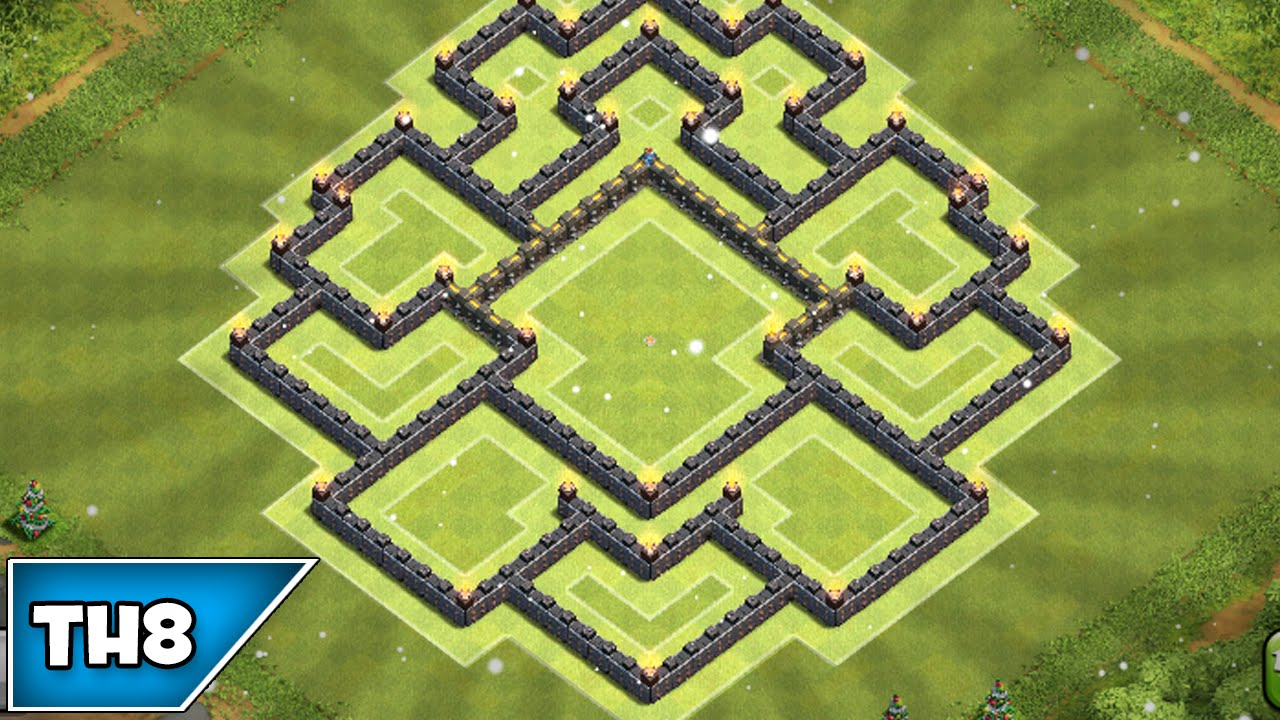 Town hall level 8 trophy base 2015 clash of clans best townhall 8