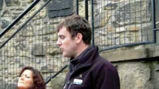 Edinburgh Castle, Scotland, September 2009 tour guide