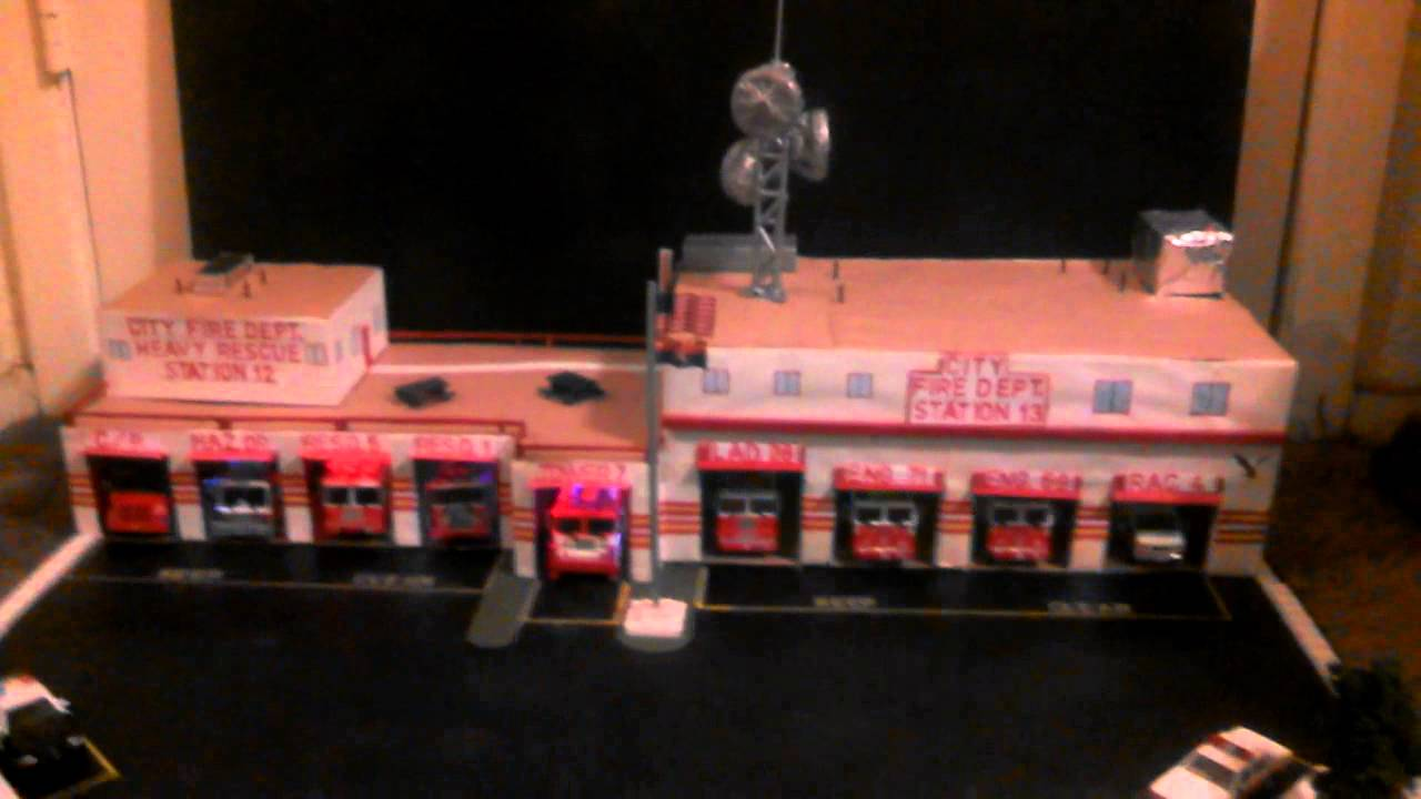 1 64 Scale Fire Station Layout With Code 3 Fire Youtube
