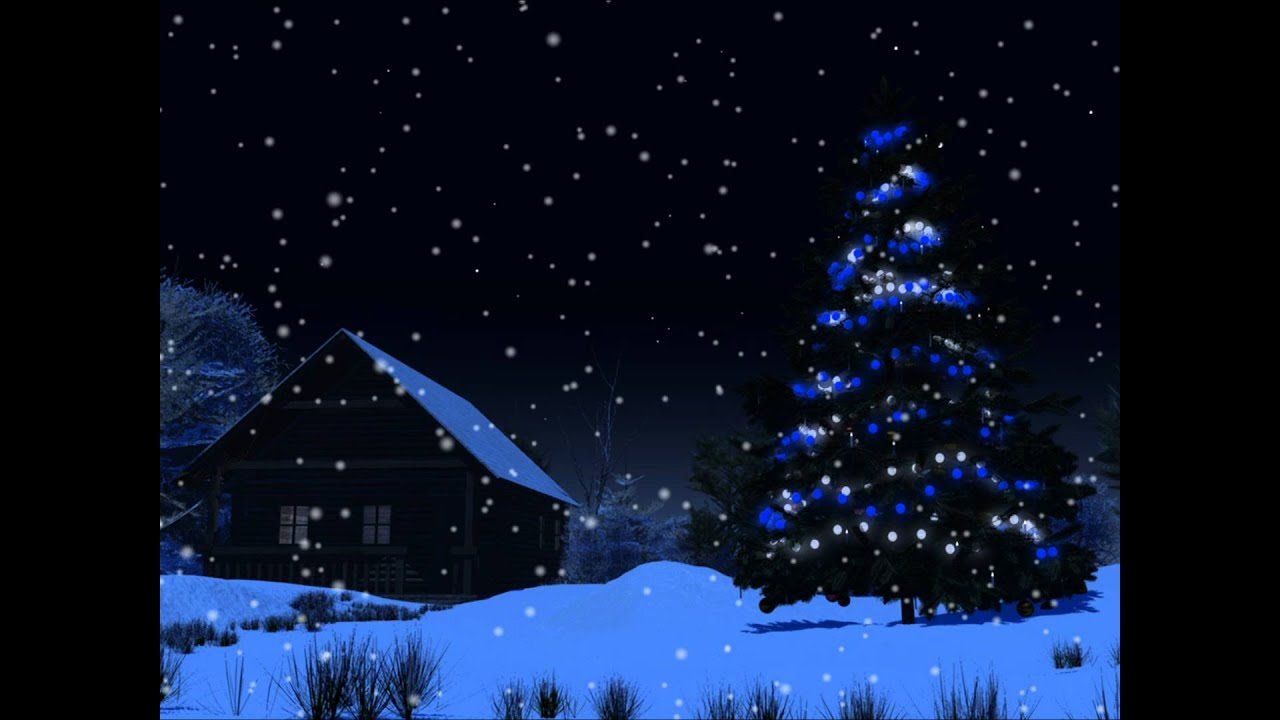3d Animation Wallpaper Com Christmas Night Motion Background Youtube