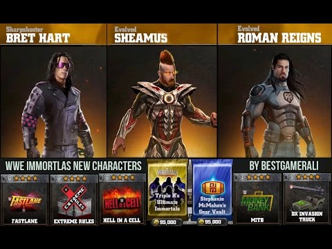 WWE Immortals New Characters - Bret Hart , Sheamus And Roman Reigns