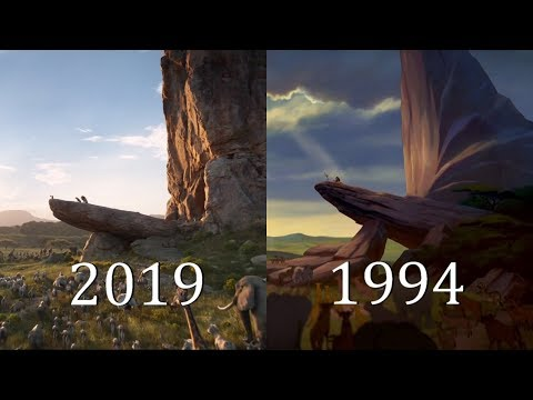 """THE LION KING (1994 vs 2019) """"Circle Of Life"""" Official Clip Comparison SHOT BY SHOT HD"""