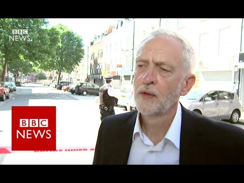 """London Mosque Attack: """"People must be free to practise faith"""" Jeremy Corbyn BBC News"""