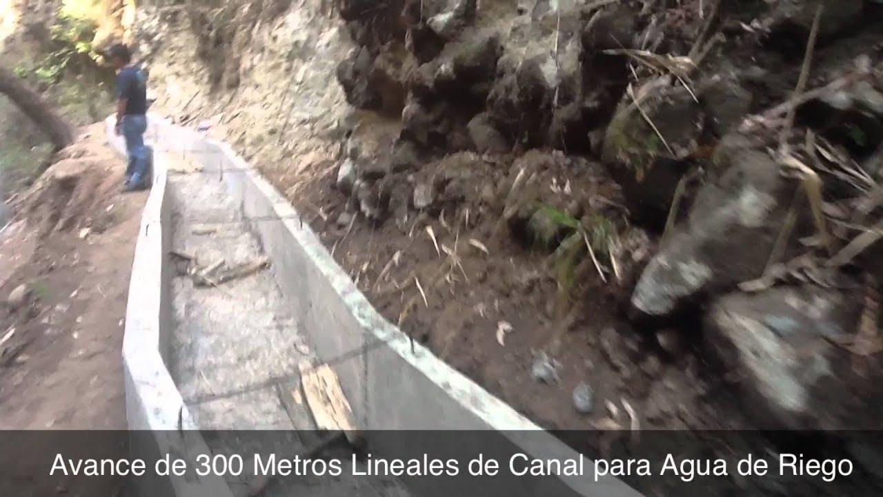 Avance canal para agua de riego youtube - Canaletas para agua ...
