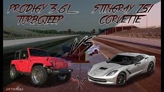 Jeep Wrangler Turbo vs Corvette Z51 Race | Prodigy Performance