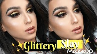 Slay Holiday Glitter Makeup Tutorial ⎜Francess Michelle