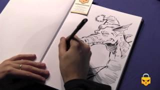 How to draw a Christmas Dragon with Jesús Martínez del Vas