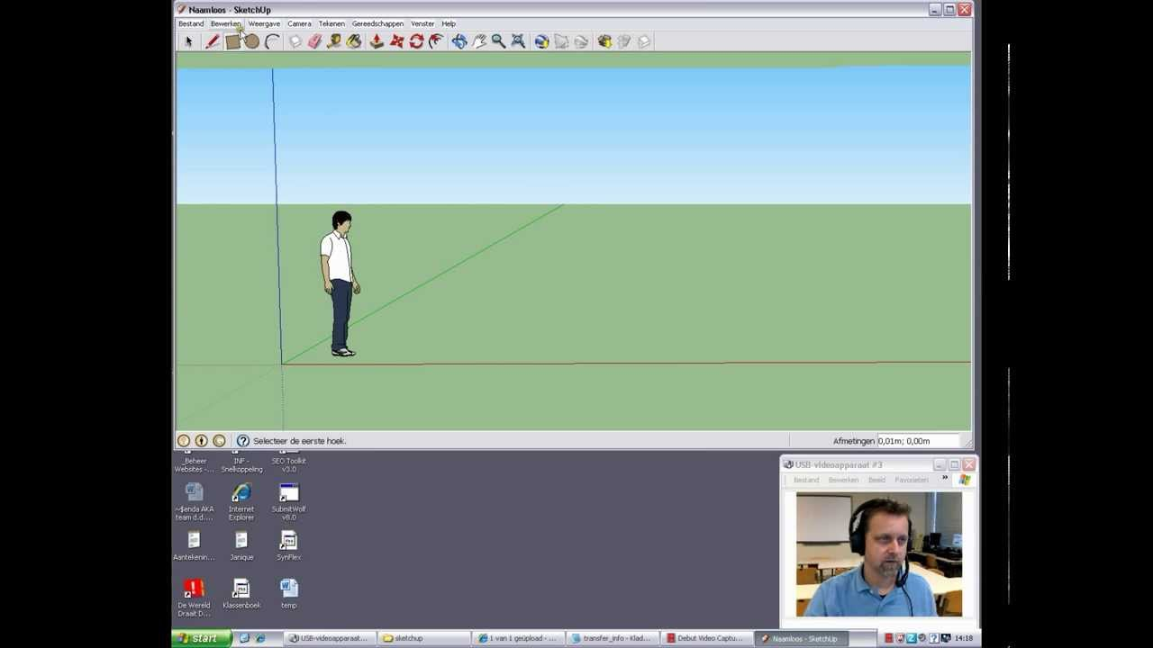 Sketchup Nederlands Sketchup Tutorial 001 Nl Nederlands Dutch