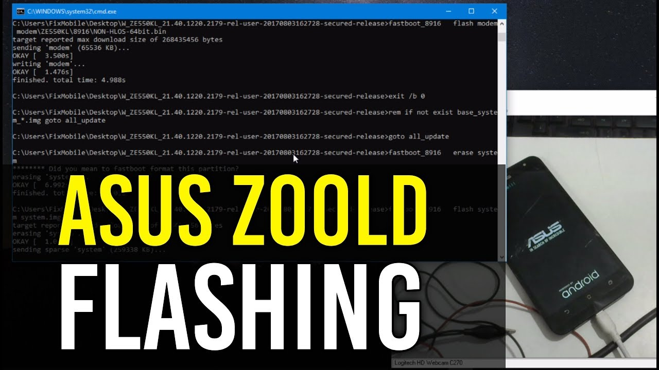 How to Flash Asus Z00LD in Fastboot Mode | Hindi - Urdu