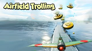 CHAT REACTIONS - Dropping MINES on the Airfield 😈 - Battlefield 5 Pacific