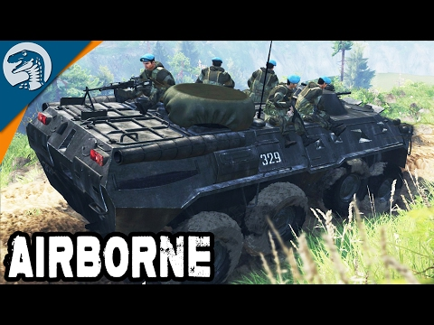 RUSSIAN SPECIAL FORCES UNIT ON STATION | BTR-80 | Spintires Multiplayer Gameplay