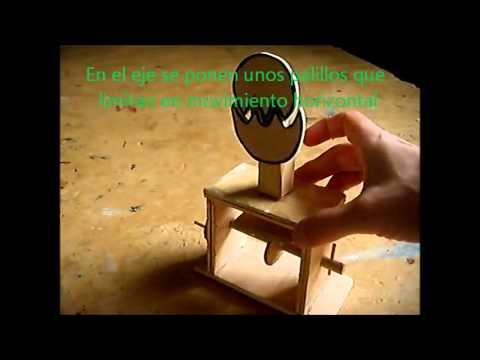 Pollito juguete de madera con leva youtube - Jugueteros de madera ...