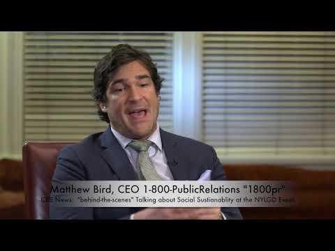 Matthew Bird on CBS behind the scenes at NYGLD Annual Galla 2016