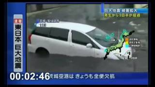 Dramatic Video:Tsunami Hits Japan After 9.0 magnitude megaquake(Miyagi,Japan)