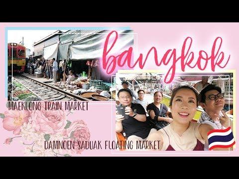 Trip to Maeklong Train & Damnoen Saduak Floating Market! | Day 3 - 5 in Bangkok