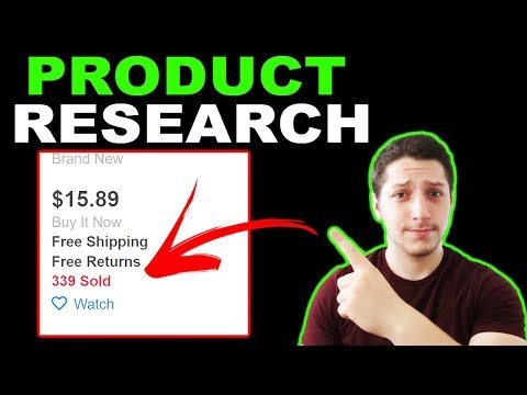 How I do Product Research For Wholesale Dropshipping on eBay thumbnail