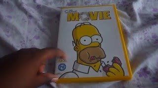 The Simpsons Movie Uk Dvd Unboxing Youtube