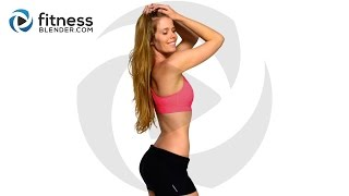 Abs, Butt and Thigh HIIT Cardio Workout - Bodyweight Cardio Interval Workout
