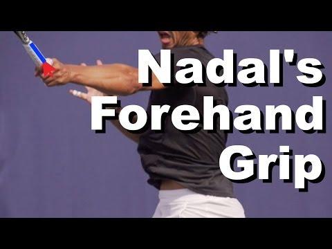 Rafael Nadal Forehand Grip Revealed - Grip Tennis Instruction - Grip Lesson